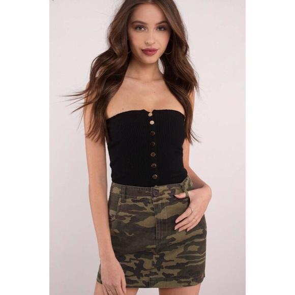 Tobi Dresses & Skirts - Camo Print Mini Skirt